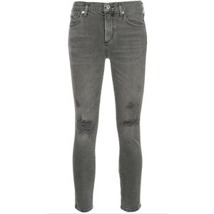 Agolde Sophie High Rise Skinny Distressed  Jean